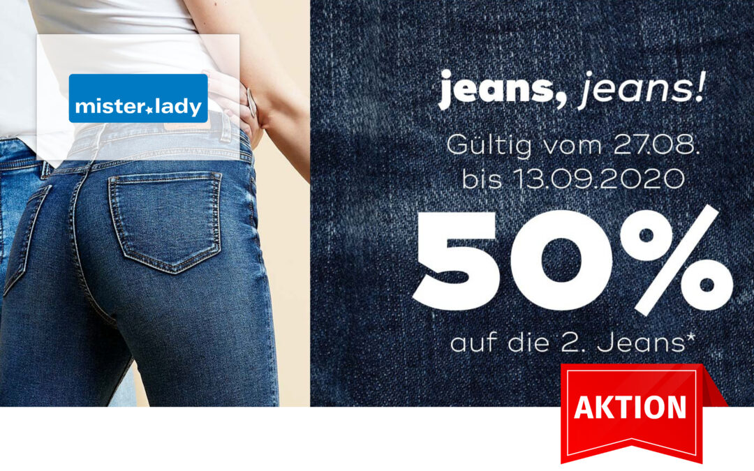 Rabatt auf die 2. Jeans